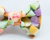 Dapper Cat Candy Hearts Bow Tie