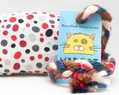 Polka Dot Catnip Stuffed MadRat Cat Toy