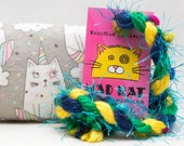 Gray Unicat Catnip Stuffed MadRat Cat Toy