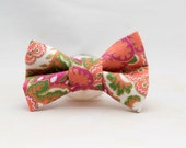 Dapper Cat Gold Paisley Bow Tie