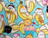 Bananya Cat Toss Pattern XL Refillable Catnip Mat
