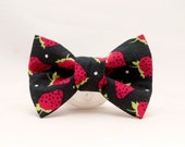 Dapper Cat Strawberries Bow Tie