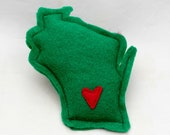 Christmas Green & Red Xmas Catnip Stuffed Wisc'rs Felt Catnip Toy