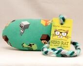 Minecraft NerdRat Catnip Stuffed Cat Toy