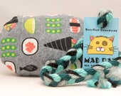 Cute Happy Sushi Catnip Stuffed MadRat Cat Toy