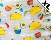 Tacos and Avocados XL Refillable Catnip Mat