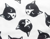 Black and White Cat Head Refillable Catnip Mat