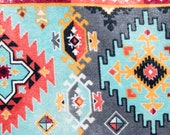 Southwest Aztec Bright Geometric Design Refillable Catnip Mat