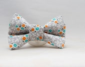 Dapper Cat Floral Pattern Bow Tie