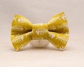 Dapper Cat Fish Bones Bow Tie