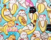 Bananya Cat Toss Pattern Refillable Catnip Mat
