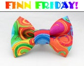 FINN FRIDAY Rainbow Swirl Dapper Cat Bow Tie