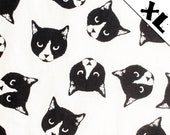 """Black and White """"Lucy"""" Cat Pattern XL Refillable Catnip Mat"""