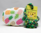 Cute Pineapple Pattern MadRat Catnip Stuffed Cat Toy