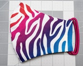 READY TO SHIP Rainbow Zebra Stripes Pattern Contoured Cotton Face Mask w/ Filter Pocket