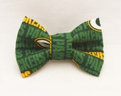 Dapper Cat Green Bay Packers Pattern Cat Bow Tie