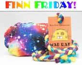 FINN FRIDAY Rainbow Galaxy Burst Pattern MadRat Catnip Stuffed Cat Toy