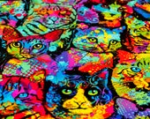 Rainbow Cats Refillable Catnip Mat