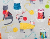 Cats With Yarn Wearing Sweaters Pattern Refillable Catnip Mat