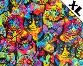 Rainbow Tie Die Cats XL Refillable Catnip Mat