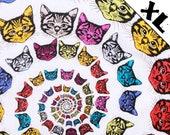 Rainbow Cat Spiral XL Refillable Catnip Mat