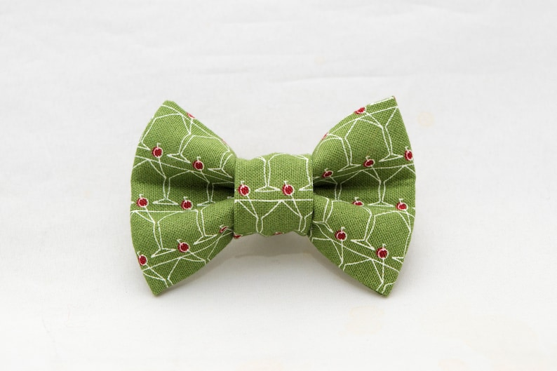 Martini Glass Pattern Cat Bow Tie image 0