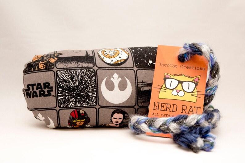 Star Wars Pattern Catnip Stuffed NerdRat Cat Toy image 0