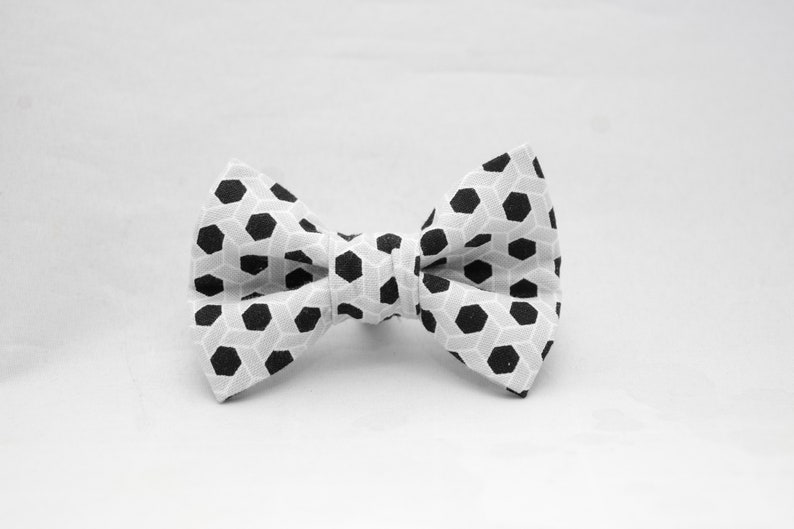 Dapper Cat Black and Gray Hexagon Pattern Cat Bow Tie image 0