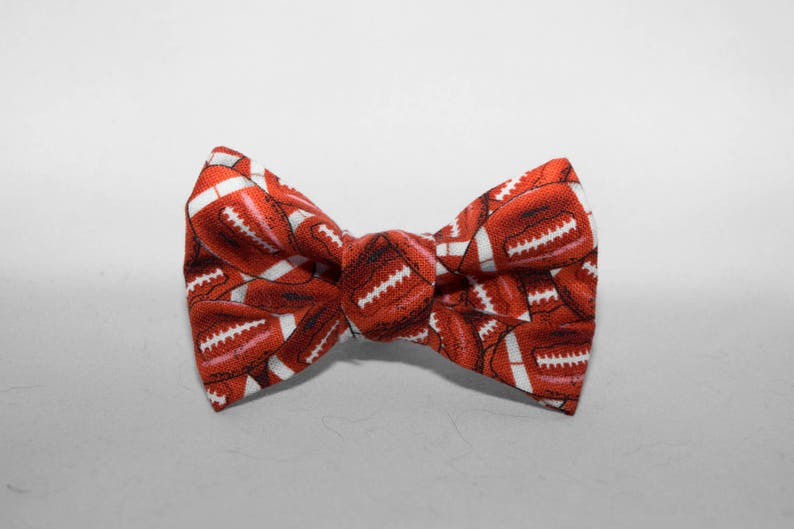 Dapper Cat Football Pattern Cat Bow Tie image 0