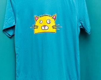 TacoCat Logo Tee Shirts - Small Logo - Blue
