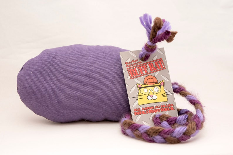 SUPER DURABLE Ruff Rats Canvas Duck Cloth Fully Stuffed Catnip image 0