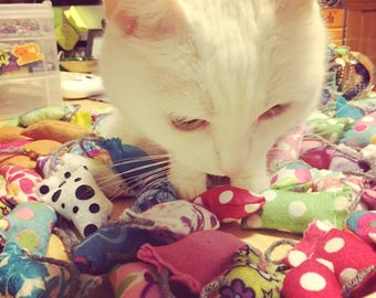 MewMice - TWO for FIVE - Fully-Stuffed Mini Catnip Toys - Various Patterns