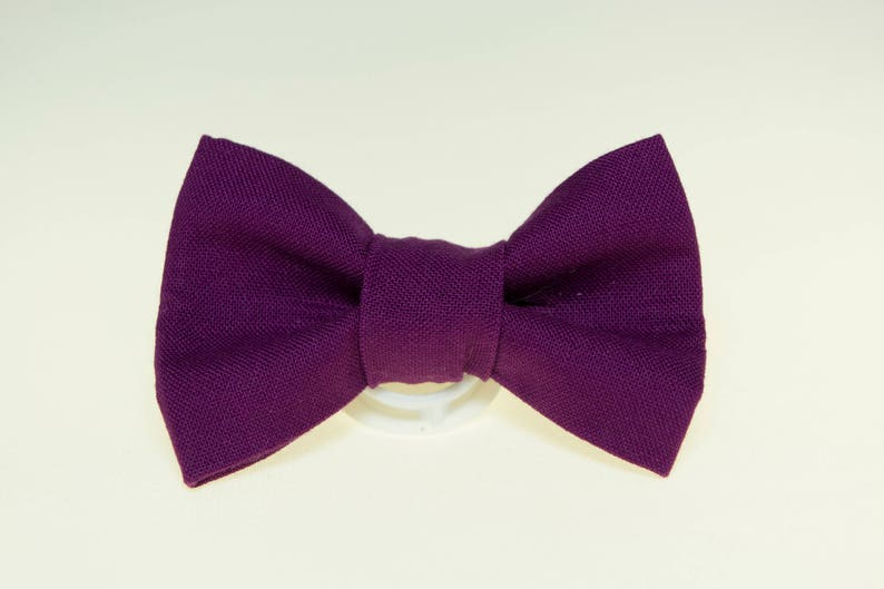 Dapper Cat Solid Purple Cat Bow Tie image 0