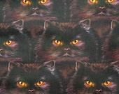 Black Cat Faces Pattern Refillable Catnip Mat