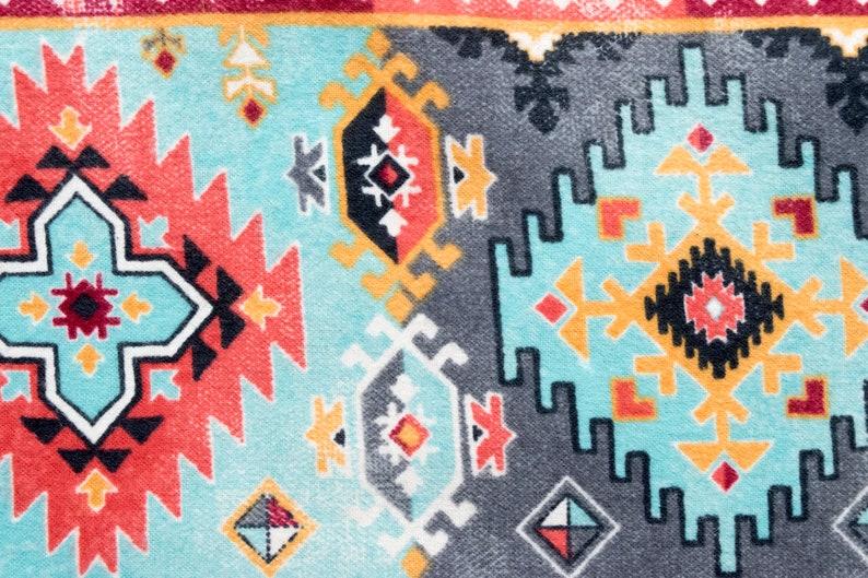Southwest Aztec Bright Geometric Design Refillable Catnip Mat image 0