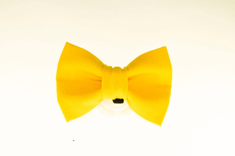 Dapper Cat Solid Yellow Cat Bow Tie image 0