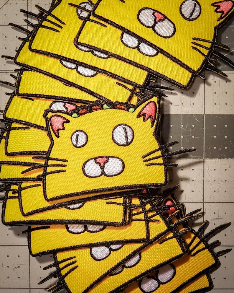 TacoCat Logo Iron-on Patches image 0