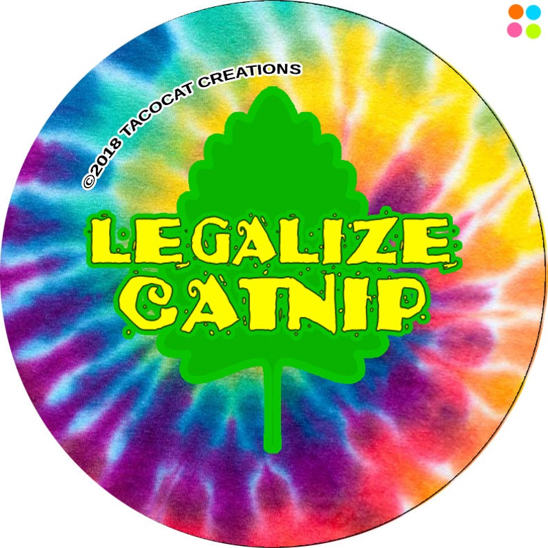 Legalize Catnip  Cat Magnets and Buttons   Different sizes image 0
