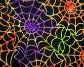 Nip Mats Rainbow Spider Webs Pattern Refillable Catnip Mat