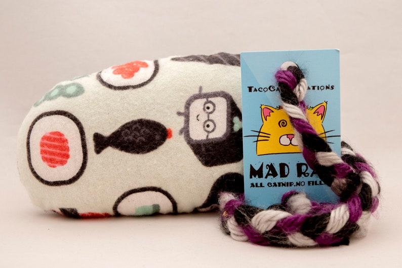 Cute Sushi Cartoon Catnip Stuffed MadRat Cat Toy image 0