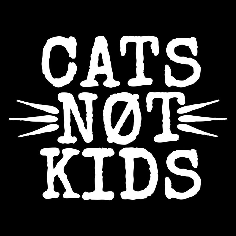 Cats Not Kids Bumper Stickers 3x3 image 0