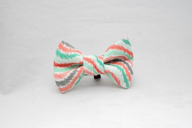 Dapper Cat Pastel Swirls Pattern Cat Bow Tie image 0