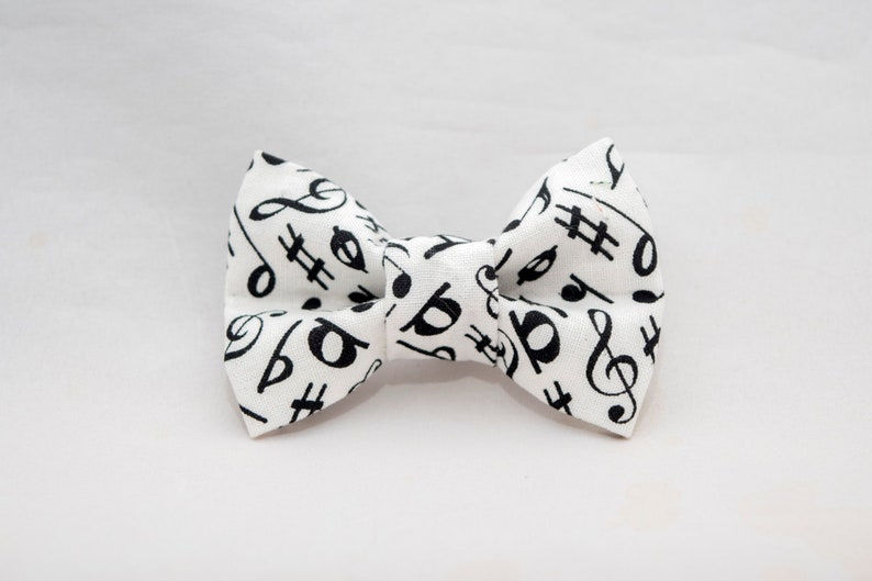 Musical Notes Cat Bow Tie image 0