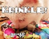 KRINKLE Mice - TWO for FIVE - Krinkly Catnip-stuffed felt toys