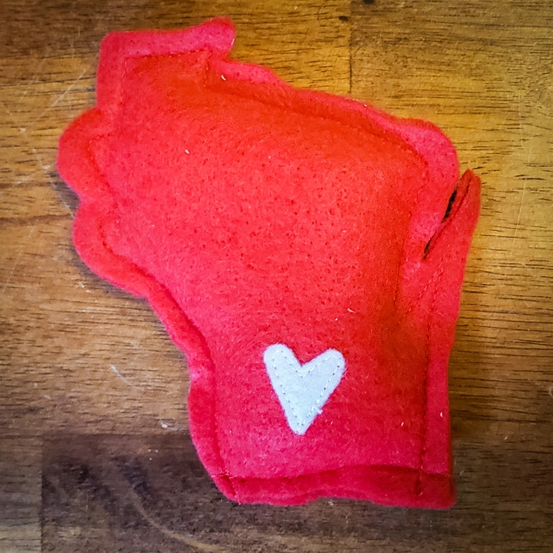 Wisconsin Badgers Red & White Catnip Stuffed Wisc'rs Felt image 0