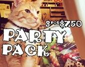 Mew Mice PARTY PACK - Pack of 3 catnip-stuffed Mice - Krinkle, Rattle & Regular