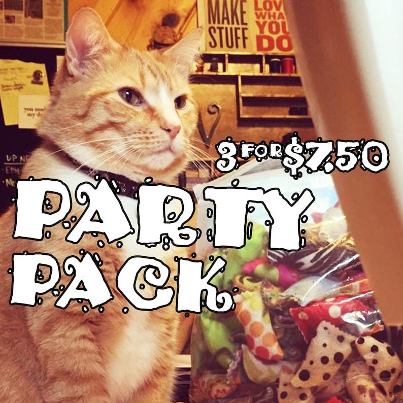 Mew Mice PARTY PACK  Pack of 3 catnip-stuffed Mice  Krinkle image 0