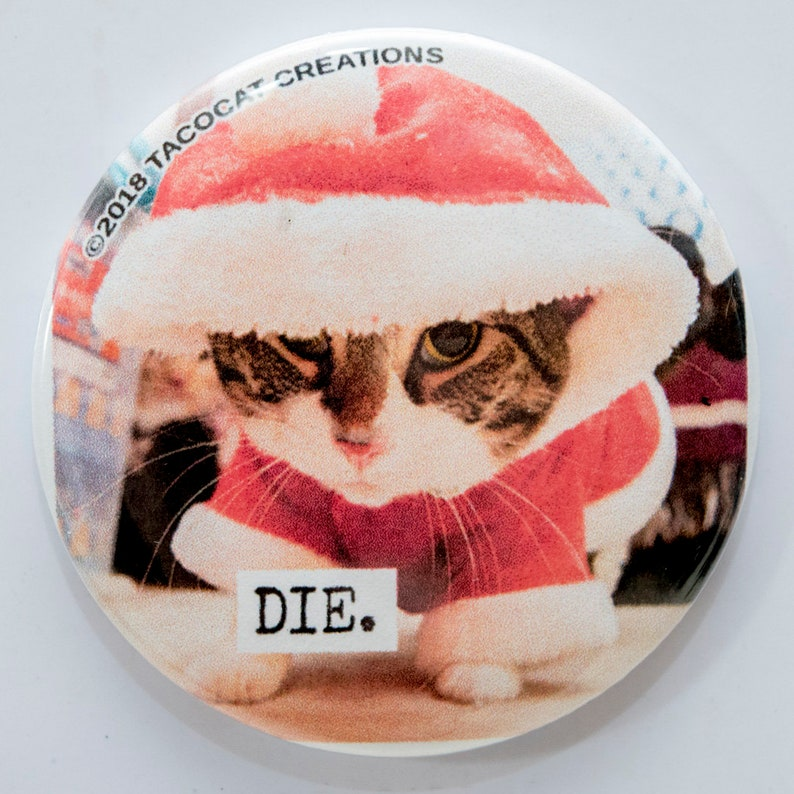 Die  Cat Magnets and Buttons   Different sizes available image 0