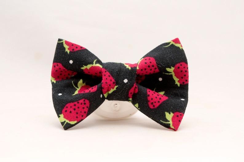 Dapper Cat Strawberries Bow Tie image 0