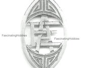 Vintage AE or EA - Art Deco - Handmade - FRENCH State 39 s mark for the Solid Silver Cut out Letters - to be set on a Bangle, pendant, purse